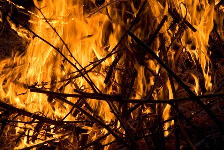 burns night: Fire Stock Photo