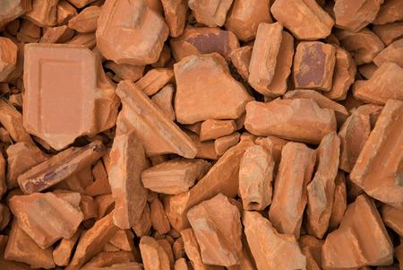Conceptual image of red bricks pile Stok Fotoğraf