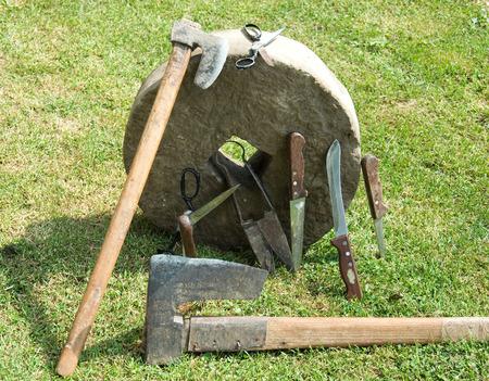 honing: Whetstone for sharpening knives