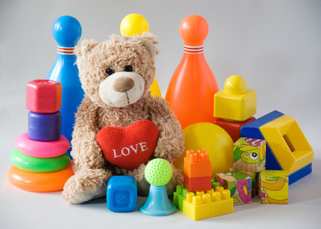 plastic toys: Creative plastic toys and teddy bear