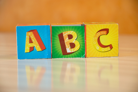 The letters on a white background