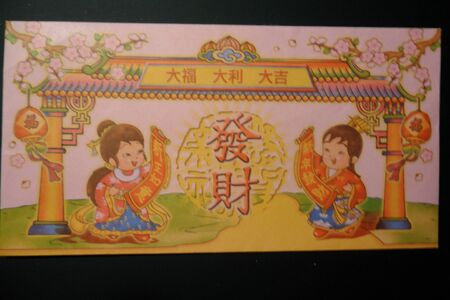 picture on envelope for chinese new year money pocket