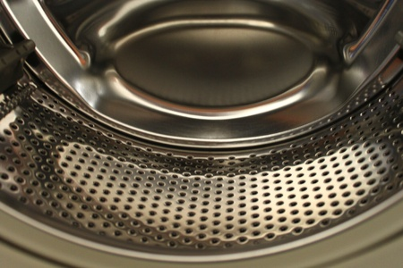 aluminum texture in washing machine photo