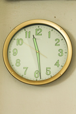Golden clock Stock Photo - 13510740
