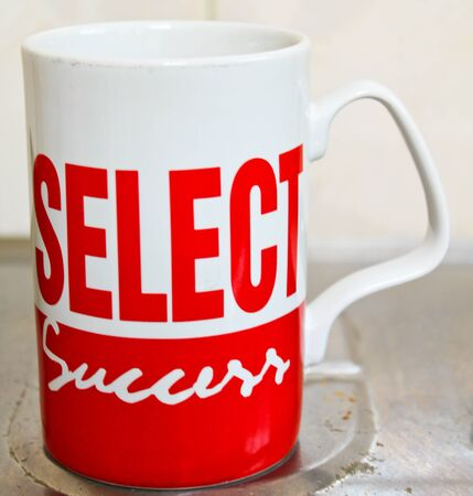 Red and white cup ,
