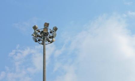 light metal pole photo