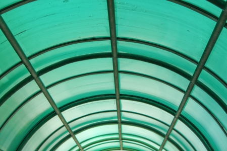 green polycarbonate ceiling Stock Photo - 13971683