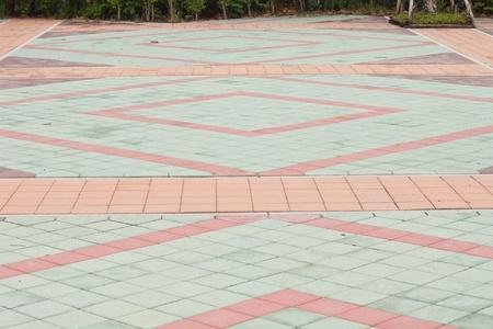 ceramic tile landscape Stock Photo