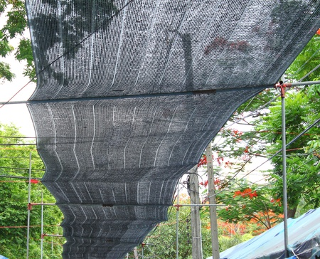 black cloth roof Stock Photo