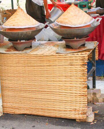urban stove and pan Stock Photo