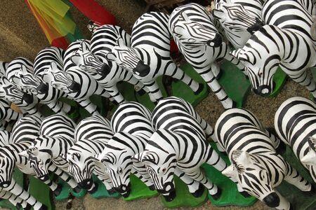 zebra doll Stock Photo