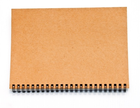 brown notebook  Stock Photo - 15393535