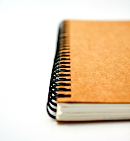 notebook on white photo