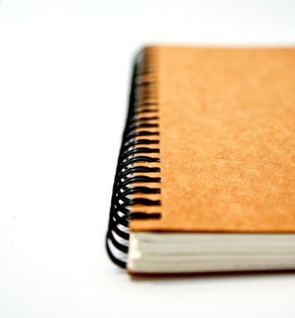 notebook on white Stock Photo - 15393539