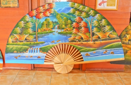giant fan for selling Stock Photo