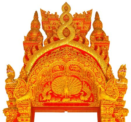 Thai style pattern on gate Stock Photo