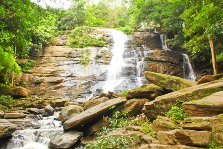 waterfall in Chiangmai Stock Photo