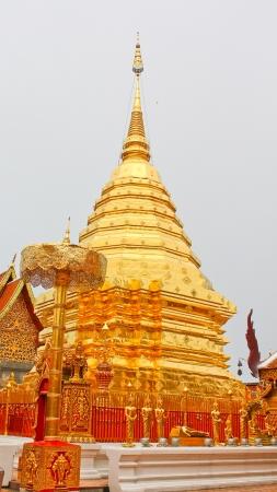 Pogoda in Wat Doiduthep Stock Photo