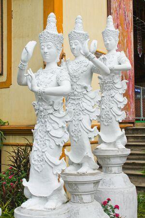 white angel sculpture Stock Photo