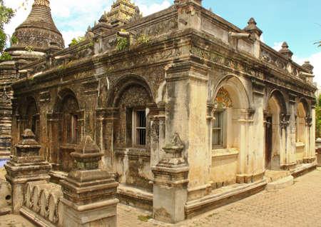 dhamma: Ancient worship architecture Stock Photo