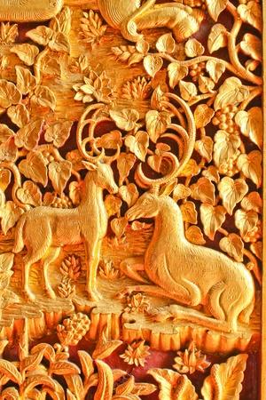 deer in Thai style painting