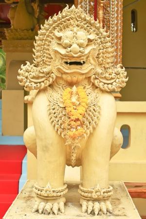 Thai lanna style lion sculpture