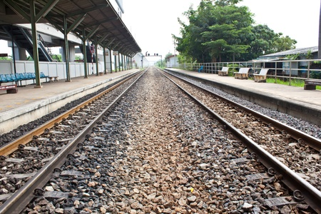 railway at station photo