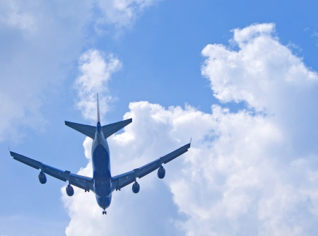 plane with cloud