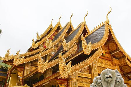 beautiful temple in north of Thailand Stock Photo
