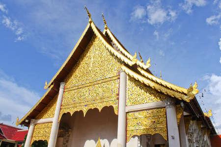 Thai Lanna style temple Stock Photo
