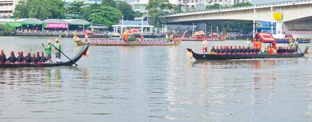 Thai Royal Barge Procession in celebration ceremony