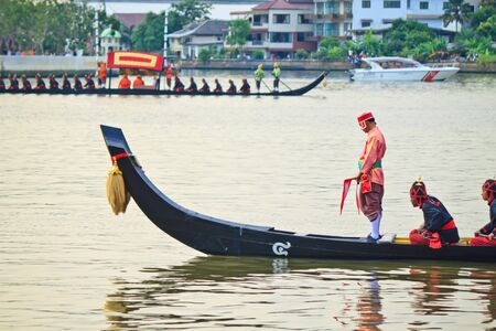 procession: boat in Thai Royal Barge Procession Editorial