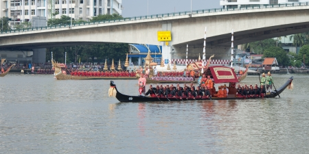 beautiful Thai Royal Barge Procession