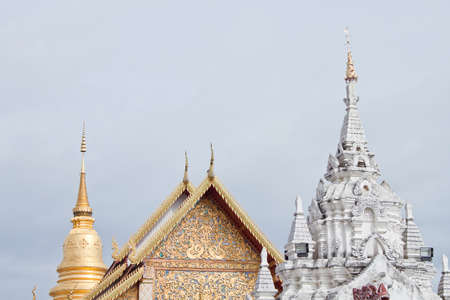 pagoda and church in Thai temple
