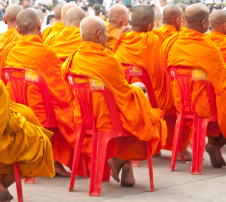 monks on chair