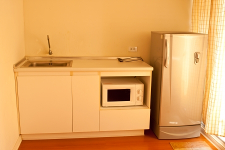 kitchen and refrigerator