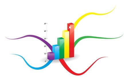 Kleurrijke graphics in het centrum van de mindmap