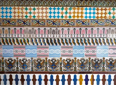 Mosaic pattern at the Cartuja monastery, Seville, Spain. Charles Pickman factory photo