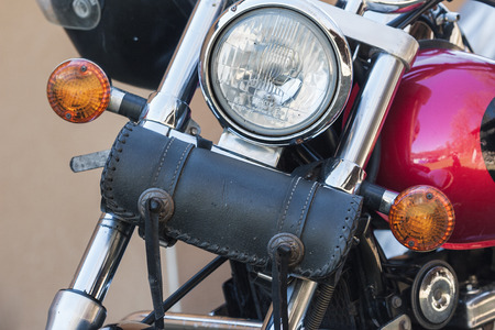 tool bag: motorcycle tool bag close up