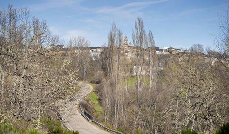 santa s helper: View of Spanish town. Rabano de Sanabria Spain Stock Photo