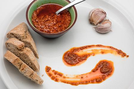 mojo: Spanish cuisine. Mojo Picon Sauce from the Canary Islands.