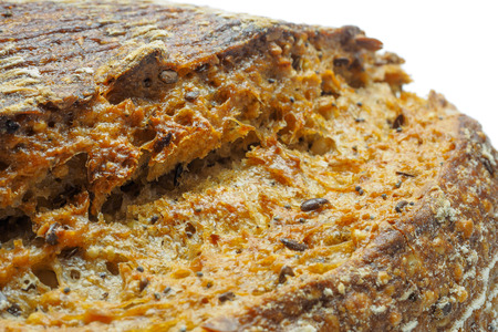 wheat toast: Ecological wheat and rye bread with sesame seeds, flax and sunflower seeds