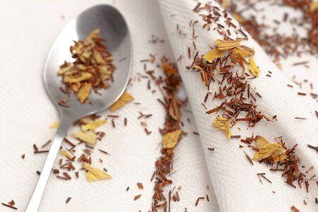 rooibos: Spoon with rooibos tea