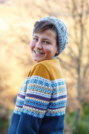 boy smiling: Handsome Young Boy Portrait
