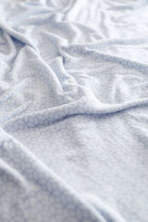 bed sheet: Comfortable white and blue bed sheet background