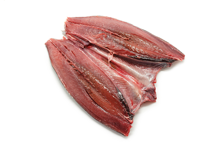 animal blood: Raw and fresh mackerel. Spanish mackerel Caballa Stock Photo