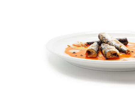 marinated: Marinated mackerel in tomato souce