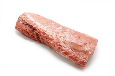 tenderloin: Raw pork tenderloin