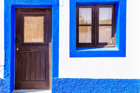 house series: Blue and white house in Mertola, Portugal. Colors of Portugal Series