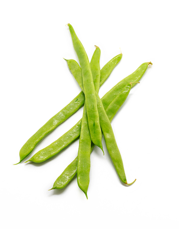 snap bean: Green beans isolated on white background Stock Photo